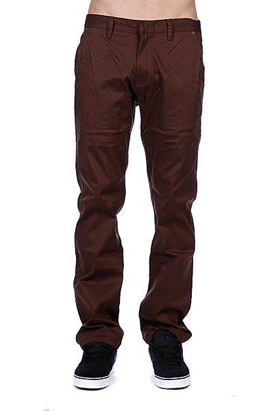 Штаны Etnies Rojo Chino Pant Dark Chocolate штаны прямые billabong new order chino khaki