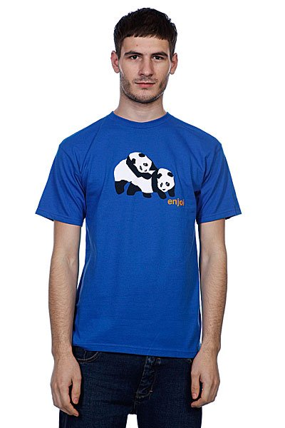 Футболка Enjoi Piggyback Pandas Royal Blue футболка enjoi outlines purple