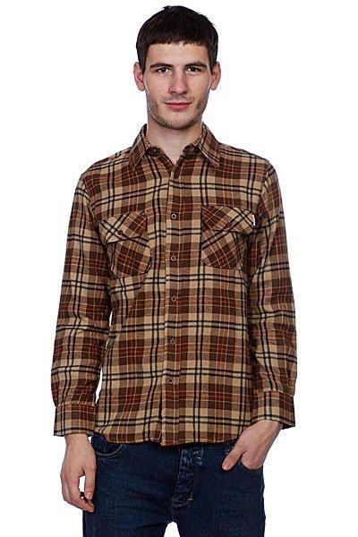 Рубашка в клетку Independent Control Button Up Brown/Orange<br><br>Цвет: коричневый<br>Тип: Рубашка в клетку<br>Возраст: Взрослый<br>Пол: Мужской