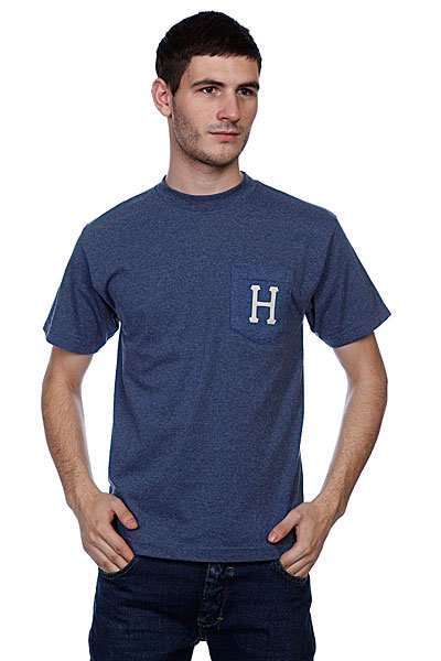 Футболка Huf Classic H Pocket Tee Real Denim Heather