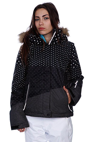 Куртка женская Roxy Jet Ski Jk Black/Color Block Proskater.ru 6290.000