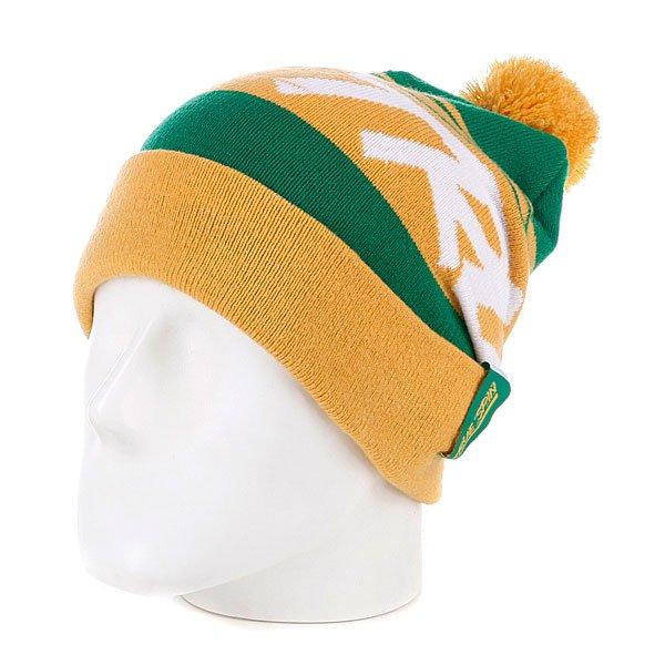 Шапка с помпоном True Spin Jacquard Styles Yellow/Green<br><br>Цвет: желтый,зеленый<br>Тип: Шапка<br>Возраст: Взрослый