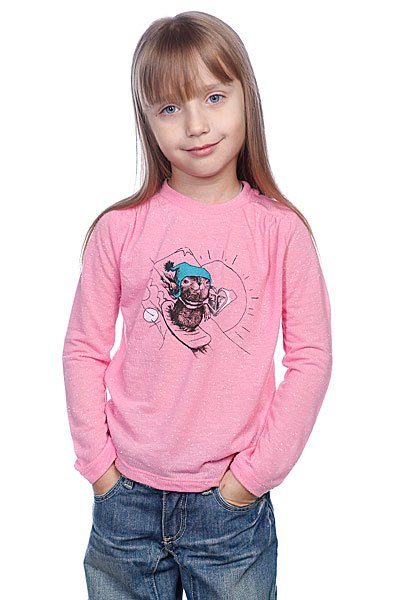 Лонгслив детский Roxy Smile Neon Pink Proskater.ru 439.000