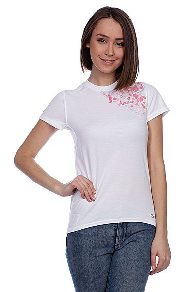 Футболка женская Animal Next S/S Mx Tee White animal футболка animal outdoors f94 s