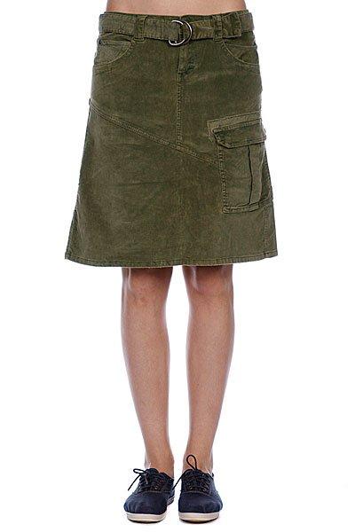 Юбка женская Animal Knee Length Cord Skirt Burnt Olive Proskater.ru 1679.000