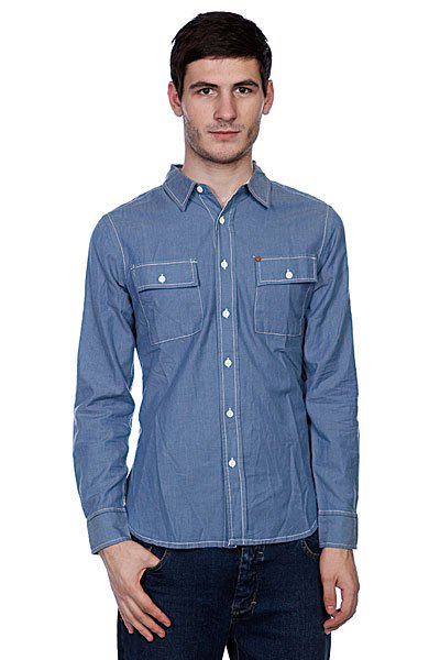 Рубашка Element Minnville Light Blue<br><br>Цвет: голубой<br>Тип: Рубашка<br>Возраст: Взрослый<br>Пол: Мужской