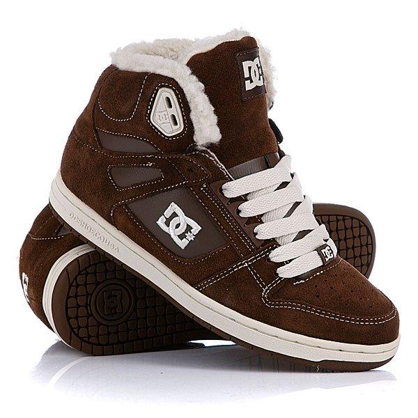 Кеды кроссовки зимние женские DС Rebound Hi Le Tobacco DC Shoes Кеды кроссовки зимние женские DС
