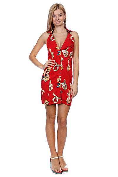 Платье женское Fred Perry Amy Hawaiian Print Dress Red