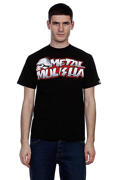 Футболка Metal Mulisha New Paint Black майка metal mulisha novelty tank black