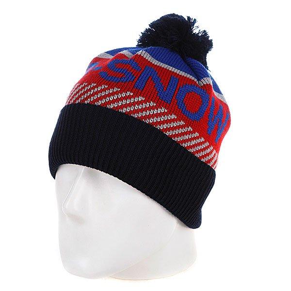 Шапка с помпоном мужская Apo Royal Blue<br><br>Цвет: синий,красный<br>Тип: Шапка<br>Возраст: Взрослый<br>Пол: Мужской