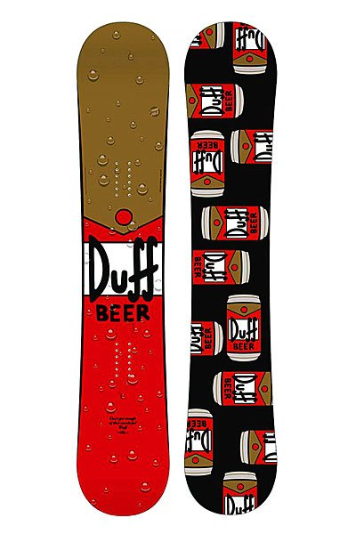 Сноуборд Santa Cruz The Simpsons Duff Beer