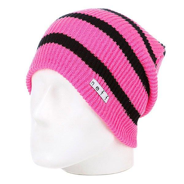 Шапка носок женская Neff Daily Stripe Pink/Black<br><br>Цвет: розовый<br>Тип: Шапка носок<br>Возраст: Взрослый<br>Пол: Женский