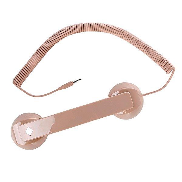 Гарнитура для iPhone Native Union Pop Phone Nude High GlossСтильная ретро гарнитура в виде трубки от обычного домашнего телефона. Несмотря на то, что она так похожа на городские телефоны наших бабушек, разработана она была  французским дизайнером David Turpin. Retro POP Phone сочетает в себе классический стиль с современным качеством и роскошно мягкой на ощупь текстурой. Высококачественный динамик и микрофон позволяют вам и вашему собеседнику прекрасно слышать друг друга.  Это гарнитуру можно использовать с любым мобильным телефоном Apple.  Переходник для компьютера приобретается отдельно.<br><br>Тип: Гарнитура для iPhone