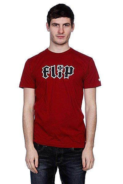 Футболка Flip Hkd Real Cardinal Red<br><br>Цвет: бордовый<br>Тип: Футболка<br>Возраст: Взрослый<br>Пол: Мужской