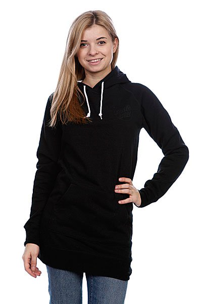 Толстовка женская Santa Cruz Other Dot Long Pullover Black Proskater.ru 4410.000