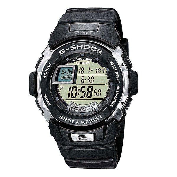 Часы Casio G-Shock G-7700-1EБлагодаря электролюминесцентной панели, обеспечивающей освещение всего циферблата, облегчается считывание данных. Характеризуется наличием функции задержки отключения, благодаря которой подсветка горит еще несколько секунд после отпускания кнопки освещения.Ударопрочная конструкция защищает от ударов и вибрации. Память на 100 временных событий.Обеспечивает отображение текущего времени в некоторых городах и определенных регионах мира.Полностью автоматический календарь, учитываются месяцы разной продолжительности и високосные годы.Секундомер - точность 1/100 секунды, максимальное измеряемое время 1 час.Таймер, с двумя независимыми режимами отсчета времени.Функция многократного сигнала (5 сигналов) позволяет устанавливать ежедневный сигнал (только время) и сигнал на определенное время в определенный день (месяц, день, время). Световая индикация сигнала.Жесткое минеральное стекло, устойчивое к царапанию.Ремешок из полимерного материала. Срок службы батареи 5 лет.Водонепроницаемость при давлении 20 атмосфер. (WR 200)Размер корпуса 52,3мм x 45,9мм x 14,6мм.Вес - 70 г.<br><br>Тип: Электронные часы<br>Возраст: Взрослый<br>Пол: Мужской