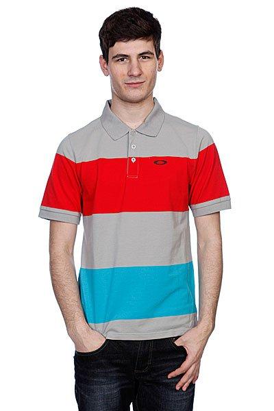 Поло Oakley Pronto Polo Stone Gray<br><br>Цвет: серый,красный,голубой<br>Тип: Поло<br>Возраст: Взрослый<br>Пол: Мужской