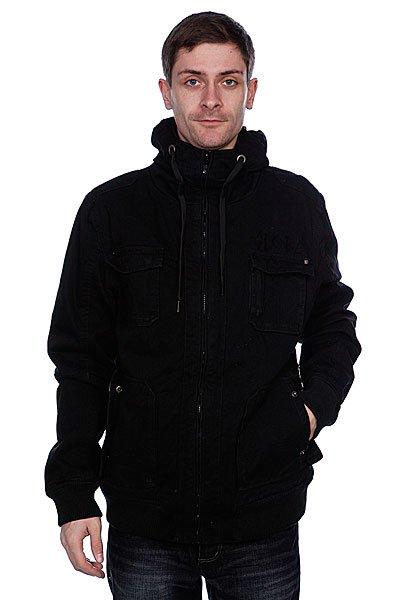 Куртка Globe A Side Jacket BlackОтлична удлиненна куртка.  Благодар утепленной подкладке и капшону, Вам не страшен ни ветер, ни дождь.Технические характеристики: Подкладка - стегана тафта.Высокий воротник - стойка.Фиксированный капшон на завзках.Два боковых кармана дл рук на кнопках.Трикотажные манжеты на рукавах.Два накладных нагрудных кармана.Внутренний карман на кнопке.Застежка - молни.Фасон: стандартный (regular fit).<br><br>Цвет: черный<br>Тип: Куртка<br>Возраст: Взрослый<br>Пол: Мужской