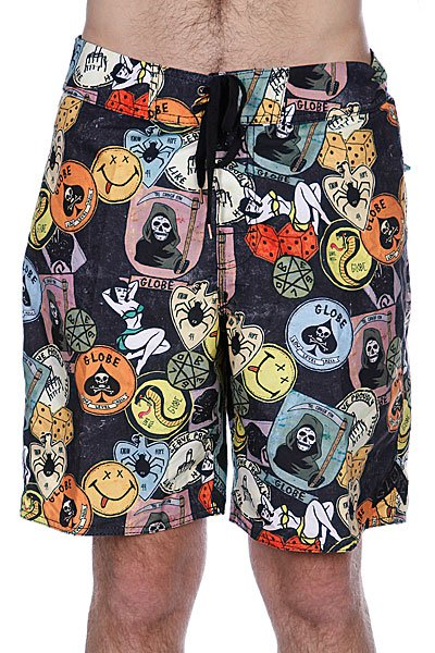 Пляжные мужские шорты Globe Shank Boardie 20 Black<br><br>Цвет: черный<br>Тип: Шорты пляжные<br>Возраст: Взрослый<br>Пол: Мужской