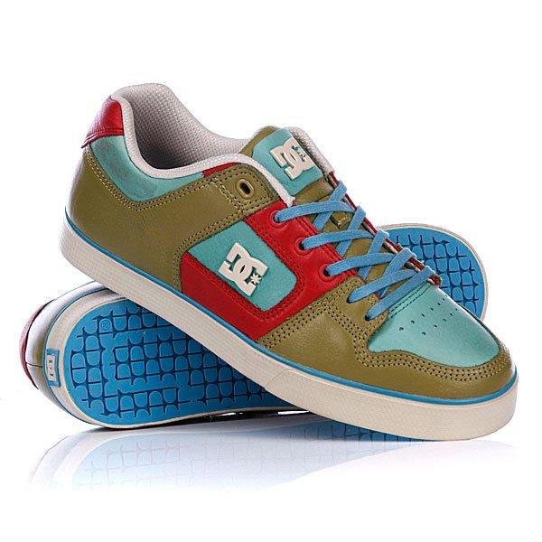 """Кеды кроссовки низкие DC Pure Slim Lx Shoe Cafir/RedЕсли покупать только одни новые кеды в этом сезоне – то, безусловно, эти. В них можно кататься, ходить на учебу и работу, а также на свидания. Так как они не только стильные, но и очень технологичные, их можно носить ежедневно, не опасаясь износа.Характеристики:Мягкий язычок с пенным наполнителем.Отверстия для вентиляции. Металлические проушины.КонструкцияWrap Cup Sole. Резиновая подошваDGT Dynamic Grip Technology для прочности и сцепления.Фирменный протектор DC """"Pill Pattern"""".<br><br>Цвет: зеленый,голубой<br>Тип: Кеды низкие<br>Возраст: Взрослый<br>Пол: Мужской"""