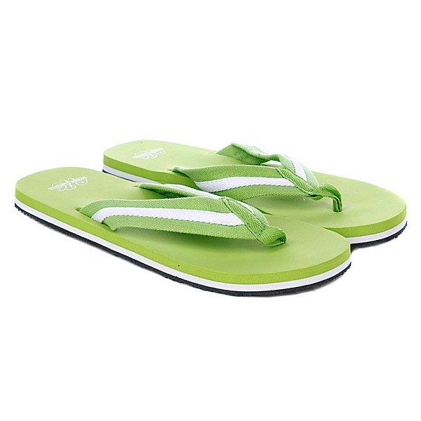 Шлепанцы Urban Classics Flip Flops Limegreen/White<br><br>Цвет: черный,зеленый<br>Тип: Вьетнамки<br>Возраст: Взрослый<br>Пол: Мужской