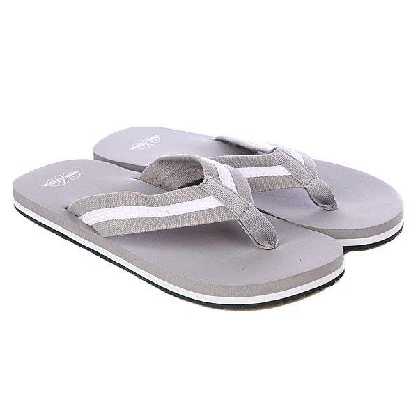 Шлепанцы Urban Classics Flip Flops Grey/White<br><br>Цвет: серый<br>Тип: Вьетнамки<br>Возраст: Взрослый<br>Пол: Мужской