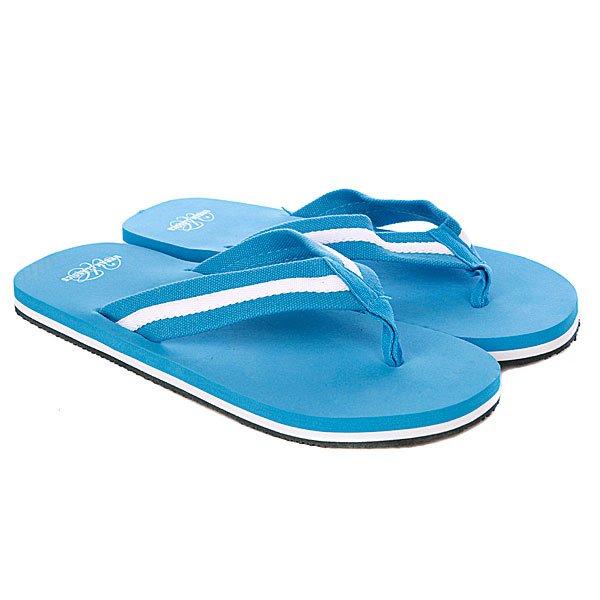 Шлепанцы Urban Classics Flip Flops Turquoise/White<br><br>Цвет: голубой<br>Тип: Вьетнамки<br>Возраст: Взрослый<br>Пол: Мужской