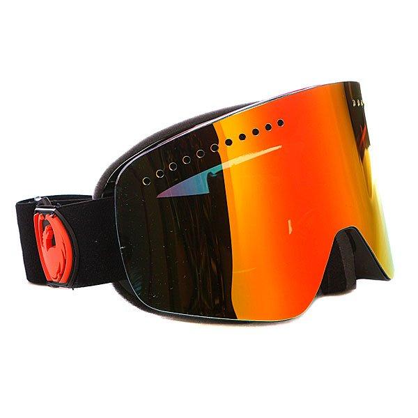 Маска Dragon NFX-L Jet w/Red Ion LensТехнические характеристики:  Цилиндрическая  форма линз.  Infinity Lens Technology  обеспечивает максимальный обзор. Технология антибликового защитного покрытия линз (на 100% защищает от ультрафиолетового излучения (блокирует вредное UVA, UVB, UVC излучение, а также ультрафиолетовое излучение до 400 NM).  Технология антизапотевания линзы Super Anti-Fog.  Оптически корректные линзы. Гибкая оправа из полиуретана.  Внутреннее покрытие из защитной тройной формирующей пены для лучшего прилегания маски к лицу и потоотведения.  В месте соприкосновения с лицом дополнительный слой нежного поглощающего влагу флиса Polartec. Линзы с устойчивым к царапинам покрытием. Регулируемый ремешок с накладкой против скольжения.  Совместимость со всеми видами шлемов.  Оптимизирована для средней и большой формы лица.  Светопередача – 79%, подходит для вечернего катания и катания в условиях плохой видимости.<br><br>Тип: Маска для сноуборда<br>Возраст: Взрослый<br>Пол: Мужской