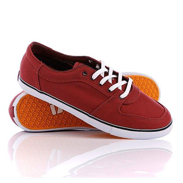 Кеды кроссовки низкие Globe Banshee Brick Red/White