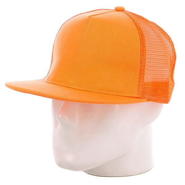 Бейсболка с сеткой True Spin 5 Panel Trucker Neon/Orange