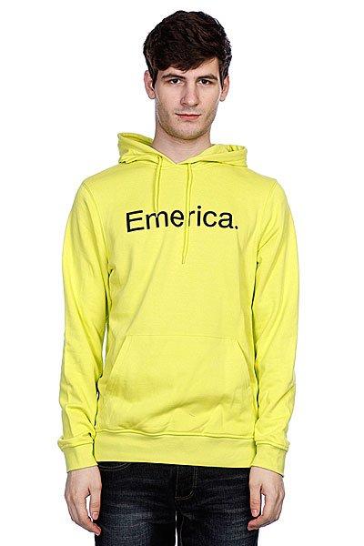 Кенгуру Emerica Pure Solid Pullover Fleece Lime<br><br>Цвет: желтый<br>Тип: Толстовка кенгуру<br>Возраст: Взрослый<br>Пол: Мужской