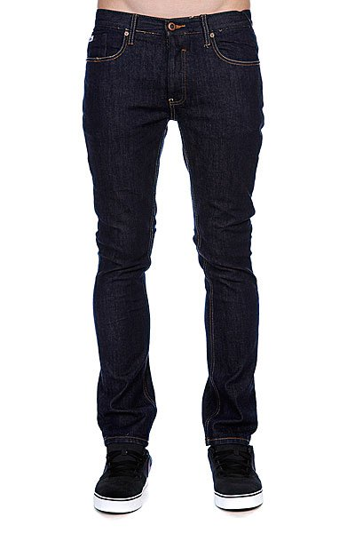 Джинсы узкие мужские зауженные Etnies Slim Fit Denim Pant Dark Rinse large size 29 42 young men jeans hole patchwork denim harem pant male fashion casual denim pant trousers