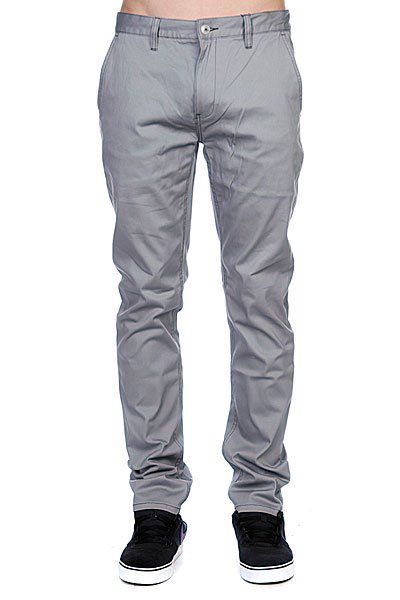 Штаны прямые Etnies Cash Out Chino Pant Grey брюки truespin chino pant grey 36