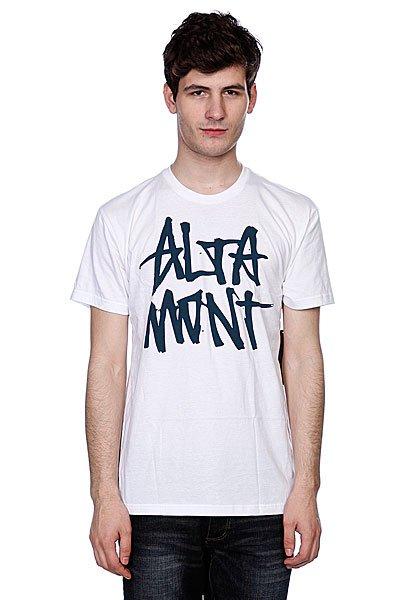 Футболка Altamont Stacked Basic Tee White/Navy altamont футболка altamont stacked basic tee oxblood