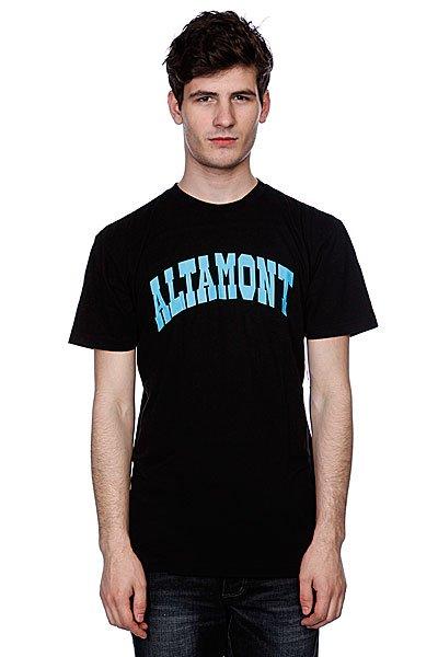 Футболка Altamont Smollege Tee Black<br><br>Цвет: черный<br>Тип: Футболка<br>Возраст: Взрослый<br>Пол: Мужской