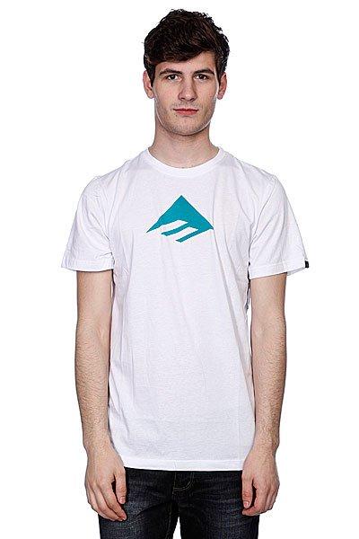 Футболка Emerica Triangle 7.0 Tee White/Blue<br><br>Цвет: белый<br>Тип: Футболка<br>Возраст: Взрослый<br>Пол: Мужской