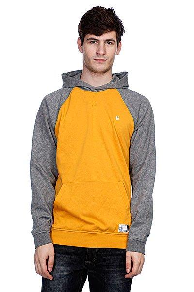 Кенгуру Etnies Classic Fleece Gold<br><br>Цвет: серый,желтый<br>Тип: Толстовка кенгуру<br>Возраст: Взрослый<br>Пол: Мужской