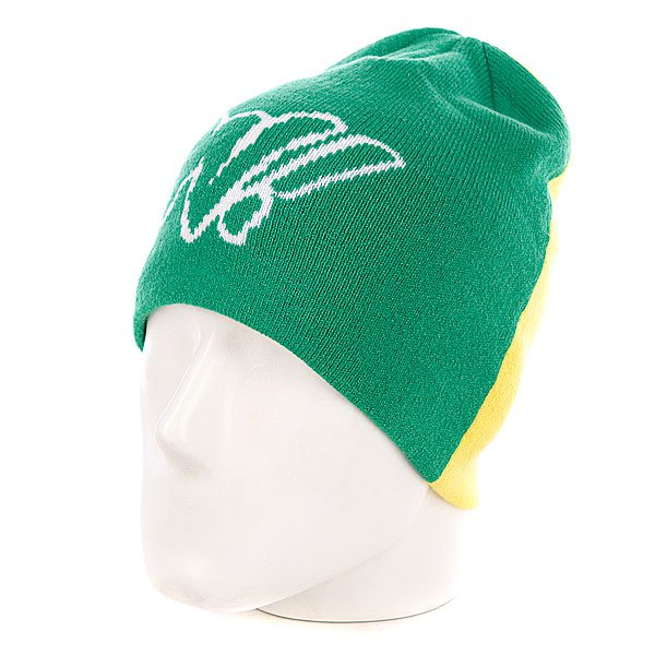 ����� Dragon Pop Block Beanie Green
