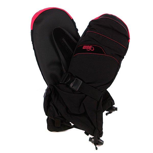 Варежки сноубордические женские Pow Xg Long Mitt BlackХарактеристики:  Мягкая внутренняя подкладка из микрофлиса Hipora.   Мембрана GORE-TEX® – 20,000 мм/20,000 гр.   Внутренний наполнитель 3M Thinsulate  - 100 гр. Мягкая флисовая нашивка на большом пальце для протирания очков. Фиксирующие карабины для крепления перчаток к куртке. Регулируемый ремешок-карабин для фиксации запястья. Вышитый логотип производителя.<br><br>Цвет: розовый,черный<br>Тип: Варежки сноубордические<br>Возраст: Взрослый<br>Пол: Женский
