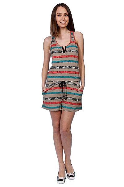 Комбинезон женский Stussy Paint Stripe Jumper Taupe