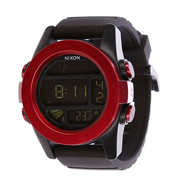 Часы Nixon The Unit Dark Red/Black Ano