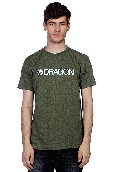 Футболка Dragon Trademark F12 Sage Heather<br><br>Цвет: зеленый<br>Тип: Футболка<br>Возраст: Взрослый<br>Пол: Мужской