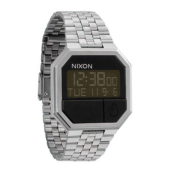 Часы Nixon The Re-Run BlackЦифровые часы с календарем, будильником, секундомером и подсветкой. Возможность установить два времени. Корпус из стали. Минеральное стекло. Стальной ремешок с застежкой из поликарбоната.Механизм: электронный, с 4 функциями: календарь, 2 времени, будильник, таймер обратного отстчета, а также с подсветкойКорпус: ширина 38.50mm, сталь, водонепроницаемость с характеристикой 50 м (5 атмосфер, брызги, дождь, нельзя плавать и нырять), кнопки из полиуретана, минеральное стеклоРемешок: сталь. Ширина 18.25mm<br><br>Тип: Электронные часы<br>Возраст: Взрослый<br>Пол: Мужской