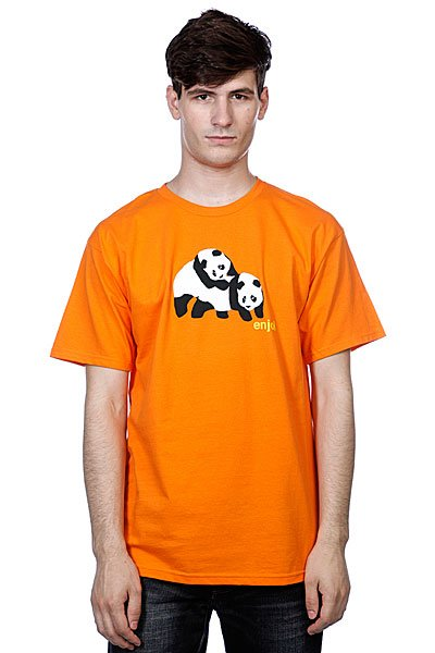 Футболка Enjoi Piggyback Pandas Orange