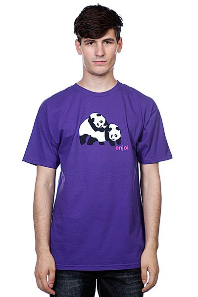 Футболка Enjoi Piggyback Pandas Purple футболка enjoi outlines purple