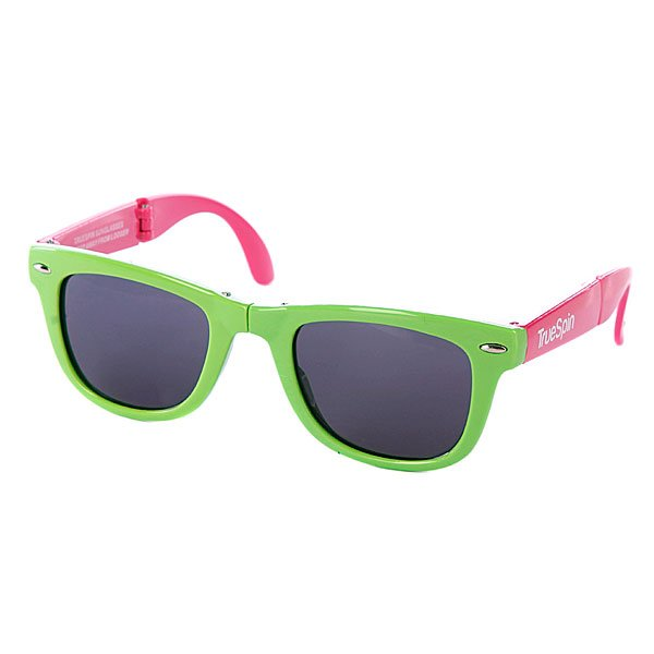 Очки True Spin Folding Sunglasses Green/Pink