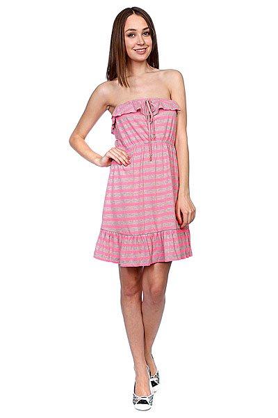 Платье женское Rip Curl Ria Pink Fluo<br><br>Цвет: розовый,серый<br>Тип: Платье<br>Возраст: Взрослый<br>Пол: Женский