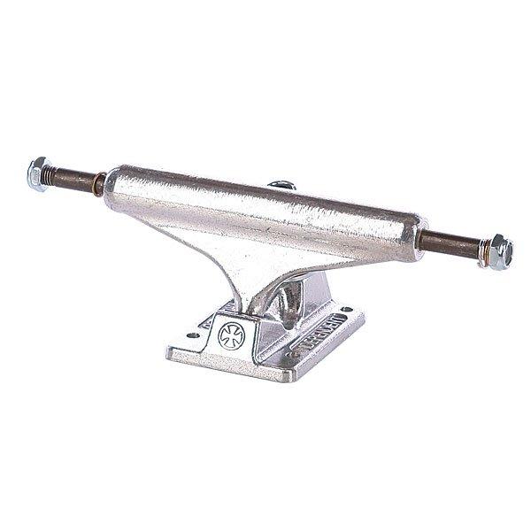 Подвеска для скейтборда 1шт. Independent St11 Silver Silver 129 Standart 7.6 (19.3 см)Цена указана за одну подвеску. Минимальный заказ 2 шт.Ширина подвески : 7.6 (19.3 см)<br><br>Тип: Подвеска для скейтборда