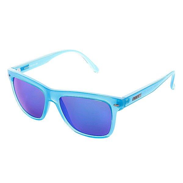 Очки женские Roxy Miller Blue/TurquoiseВинтажный стиль в современной интерпретации.Технические характеристики: Материал Propionate.Прочные линзы из поликарбоната.Покрытие против царапин.100% защита от ультрафиолетовых лучей.Линзы от Carl Zeiss Vision.<br><br>Цвет: синий<br>Тип: Очки<br>Возраст: Взрослый<br>Пол: Женский