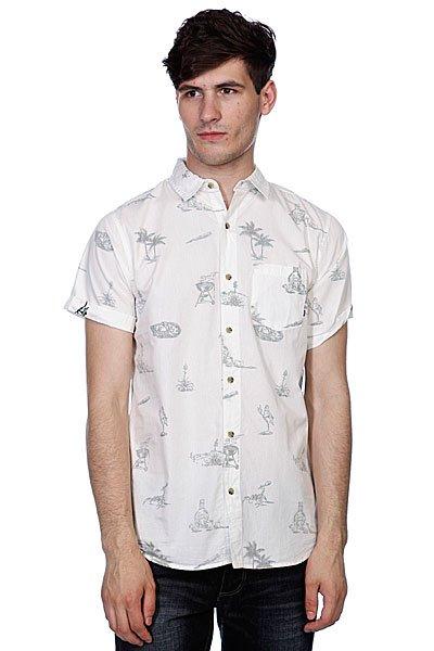 Рубашка Globe Cabana Shirt Dirty White<br><br>Цвет: белый,серый<br>Тип: Рубашка<br>Возраст: Взрослый<br>Пол: Мужской